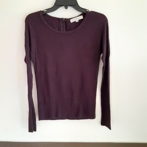 Loft dark purple sweater